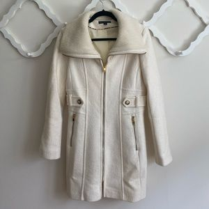 Winter white coat, worn only once!
